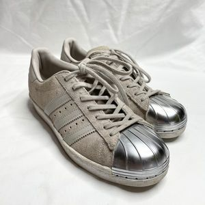 Adidas Superstar Sneakers Grey Leather